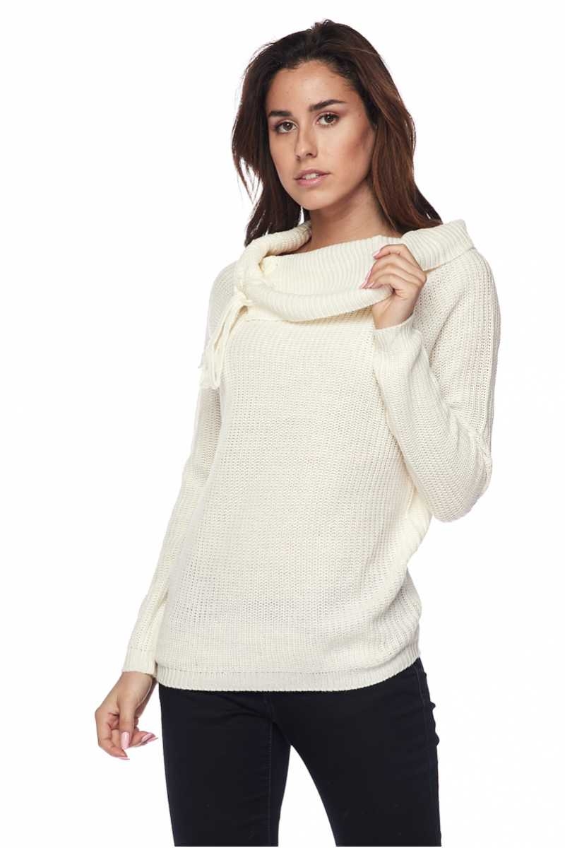 Braid detailed Knit Off Shoulder Sweater