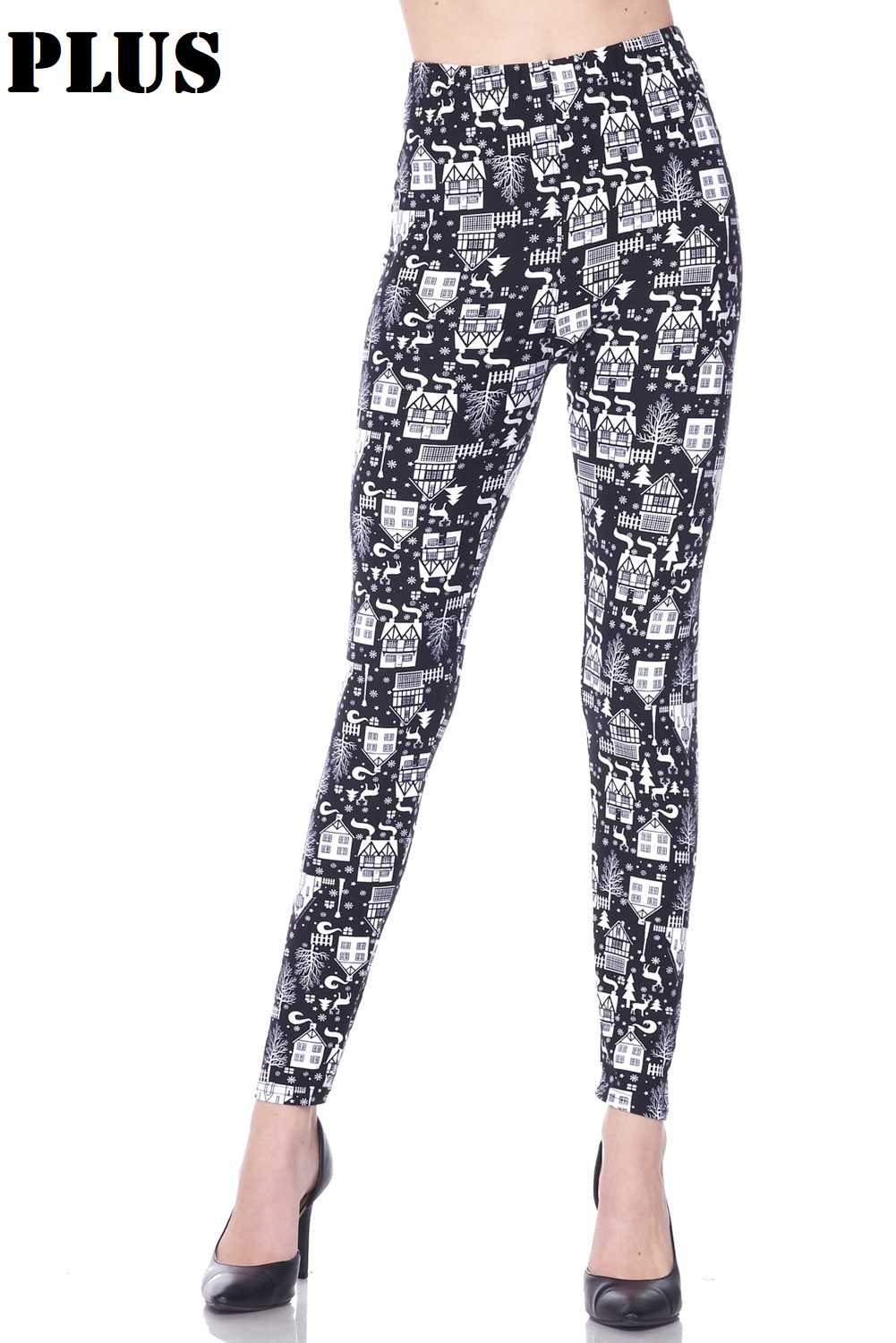 PLUS Santa Is Coming Tonight Print Leggings