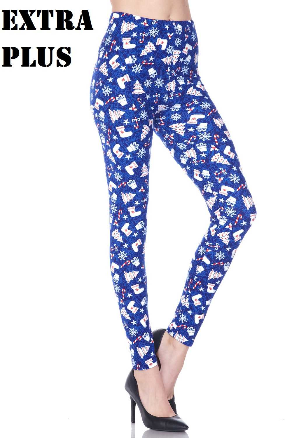 XPLUS Snow Flakes And Gifts X-Mas Print Leggings