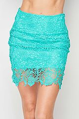 Lace pencil skirt with lining.