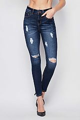 Distressed Open Knee Skinny Jeans