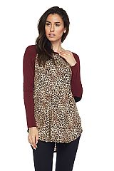 Animal Print Longsleeves Tunic