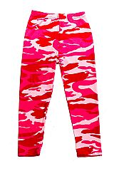 KIDS Pink Camouflage Print Brushed Yummy Leggings