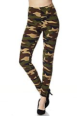 Camouflage Army Print Ankle Leggings