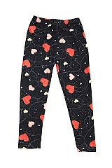KIDS Falling Hearts Galaxy Print Leggings