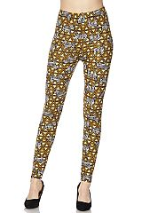 Zebra Print Yellow Ankle Leggings
