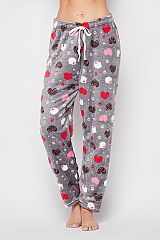 Leopard Kitty Love Printed Brushed Pajama