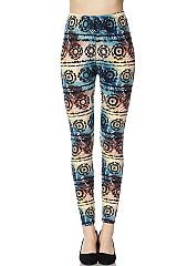 Multi Color Gradient Print Yummy Brushed Ankle Leggings