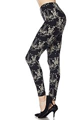 Knight Garden Print Ankle Leggings
