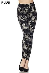 PLUS Knight Garden Print Ankle Leggings