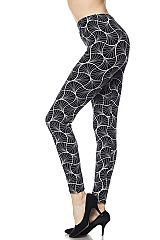 Illusion Print Ankle Leggings