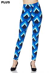 PLUS Bold Shell Print Ankle Leggings