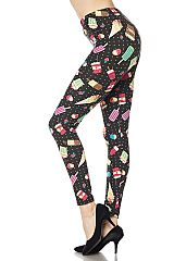 Fantastic Desserts Print Ankle Leggings