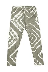 KIDS Grey Bullseye Tie Dye Print Leggings