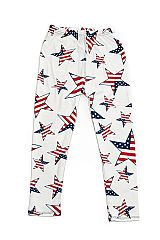 KIDS American Star Print Yummy Brushed Leggings