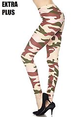 EXTRA PLUS Underground Camo Print Ankle Leggings