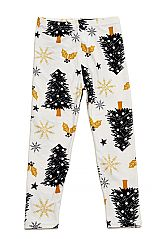 KIDS Christmas Tree Yummy Brushed Ankle Leggings