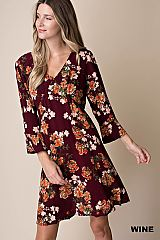 Floral V-Neck Summer Dress