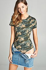 Camo Short Sleeve Bodysuit